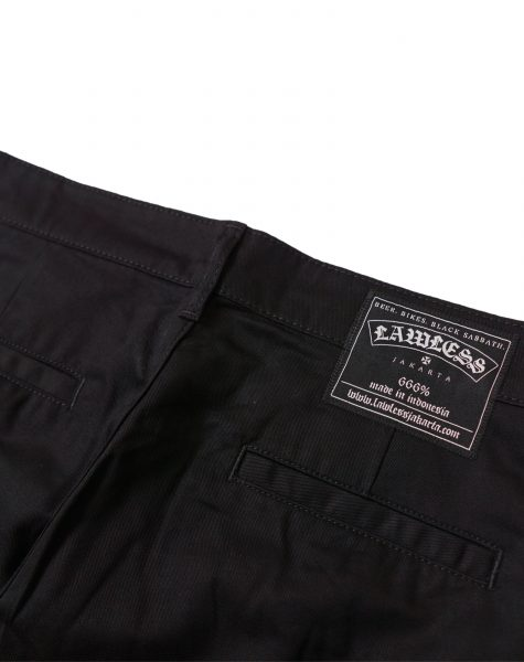 Lawless – Snarl Chino Pants Black